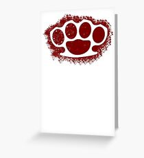 Brush Knuckle  Greeting Card