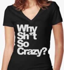 REGGIE WATTS Women's Fitted V-Neck T-Shirt