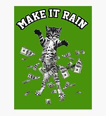 Dollar bills kitten - make it rain money cat Photographic Print