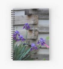 Iris By The Cabin Spiral Notebook