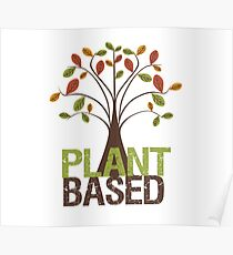 Plant Based Fall Tree Poster