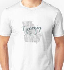 Georgia State Typography Unisex T-Shirt