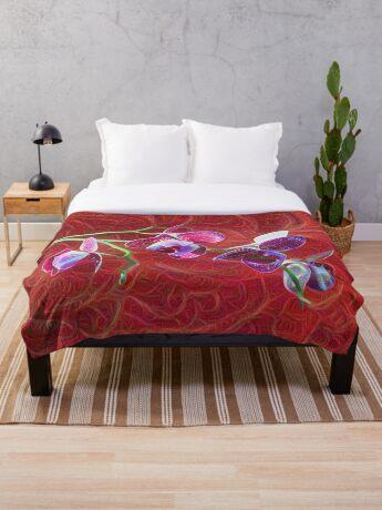 Phalaenopsis B Throw Blanket