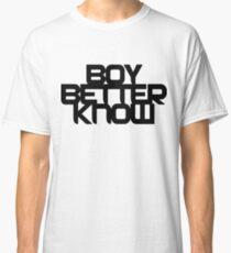 Boy Better Know - Chest Placement (black) Classic T-Shirt