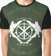 Strength of the Wolf [White / Green] Graphic T-Shirt