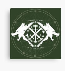 Strength of the Wolf [White / Green] Canvas Print