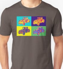 Colorful 1930 Model A Ford Pickup Truck Pop Art T-Shirt