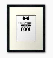 Bow Ties Are Cool - Doctor Who Framed Print