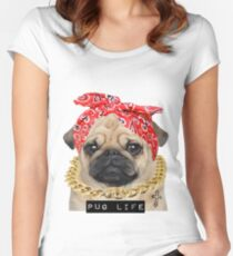 Pug life Women's Fitted Scoop T-Shirt