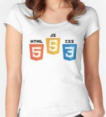 Web Logos Women's Fitted Scoop T-Shirt