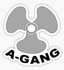 A-GANG, United States Military, Submarine Service, Small Sticker