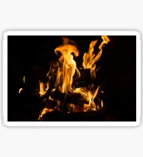 Hot Sparks - Comfort and Warmth by the Fireplace Sticker