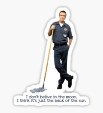 The janitor Moon Sticker