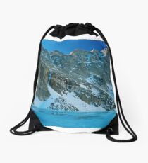 Blue Chasm Drawstring Bag