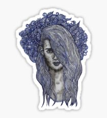 Winter doll Sticker