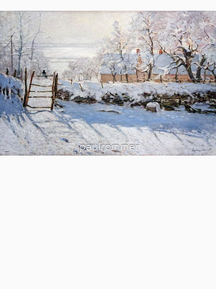 Die Elster - Claude Monet - 1869 von paulrommer