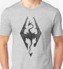 Skyrim inspired minimal print - dragon born, large T-Shirt