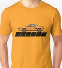 Fiat Bertone X1/9 Orange Stripes Unisex T-Shirt