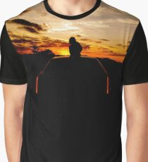 Kitty Cat Cadillac Sunset Graphic T-Shirt