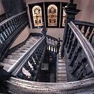 Staircase and stained glass. by BigAndRed