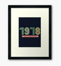 1978 aged to perfection Retro Style Framed Print