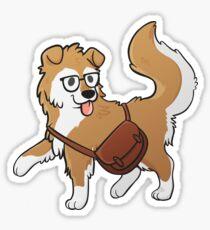 Scholarly Pupper Sticker