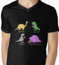 Funny Dinosaurs Men's V-Neck T-Shirt