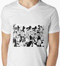 Siegesruf! T-Shirt mit V-Ausschnitt