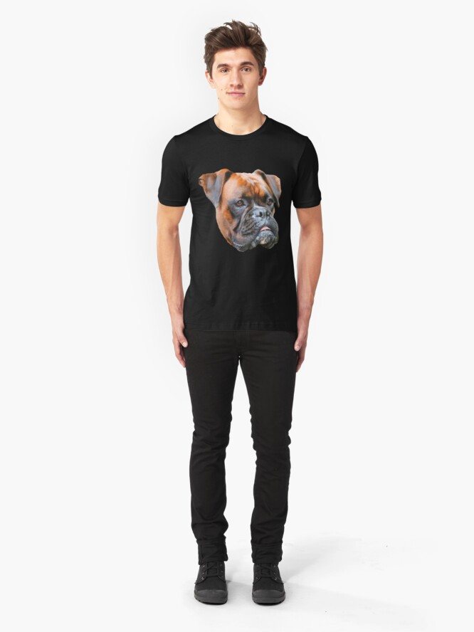 Alternate view of Germany boxer dog  Slim Fit T-Shirt