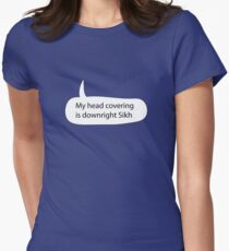 My Headcovering is Downright Sikh Women's Fitted T-Shirt