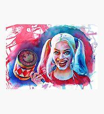 Crazy Margot Robbie Photographic Print
