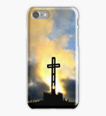 Easter Cross ~ digital paint effect iPhone Case/Skin
