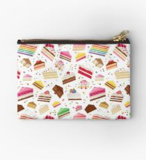Colorful sweet cakes slices pattern. Studio Pouch