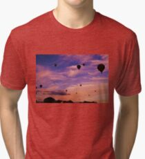 Balloon Festival Sky - Peach Tri-blend T-Shirt