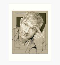 Martin Freeman Artwork Pencil Art Print