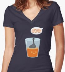 CAN I GET A LIL GOOSE IN MY OJ? Women's Fitted V-Neck T-Shirt