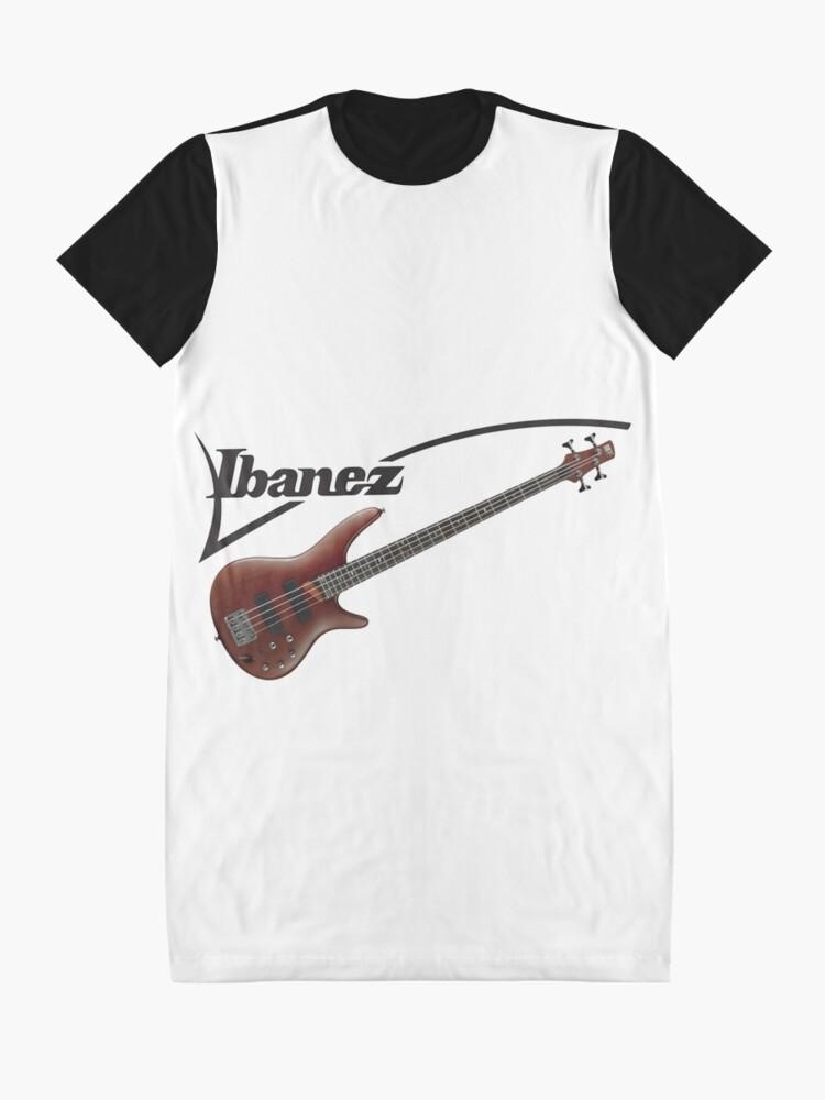 Ibanez Bass Logo Graphic T Shirt Dress By Quintenvandijck