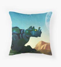 Green Wild Throw Pillow