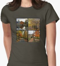 Saucon Valley Fall Women's Fitted T-Shirt
