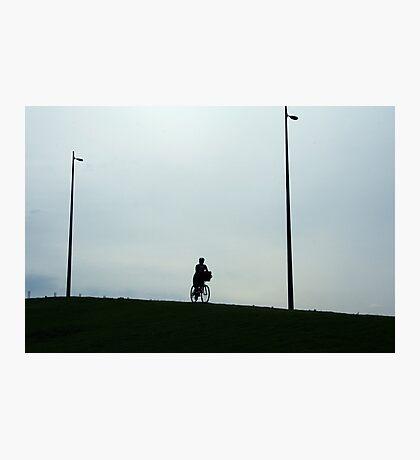 Lone cyclist Photographic Print