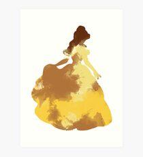 Character Inspired Silhouette  Art Print