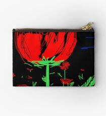 Red flower Studio Pouch