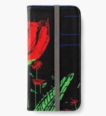 Red flower iPhone Wallet/Case/Skin
