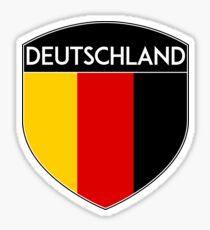 GERMANY DEUTSCHLAND FLAG CREST EMBLEM Sticker