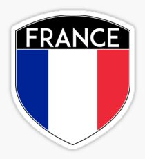 FRANCE FRENCH FRANÇAIS FLAG CREST BADGE Sticker