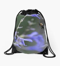 Bee in the Mid Air Drawstring Bag