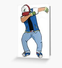 Ash Ketchum Dab Greeting Card