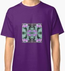 Mauve Ground Flower Fractal 1 Classic T-Shirt