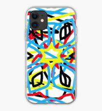 colorful kaleidoscope mandala iPhone Case