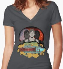 Jan Michael Vincent Women's Fitted V-Neck T-Shirt